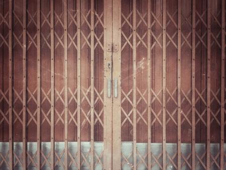 grunge: Grunge rusty sliding metal door