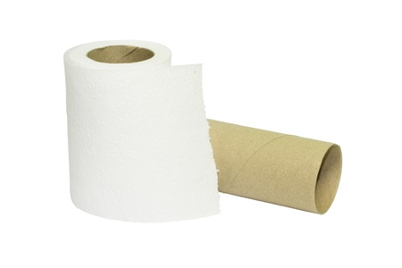 inadequate: Toilet paper rolls with a used up one among not enough