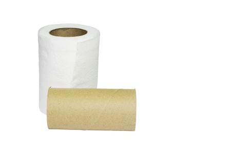 deficient: Toilet paper rolls with a used up one among not enough
