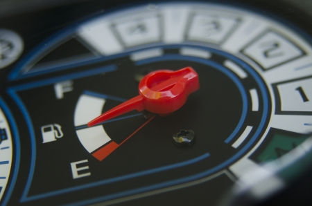 gauge indicator measure the fuel and show the speed photo