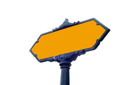 blank road sign with iasolated white background