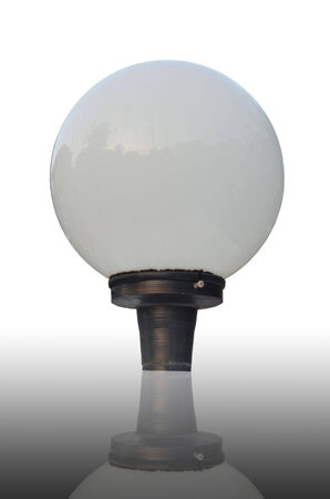 Light bulb on isolated background photo
