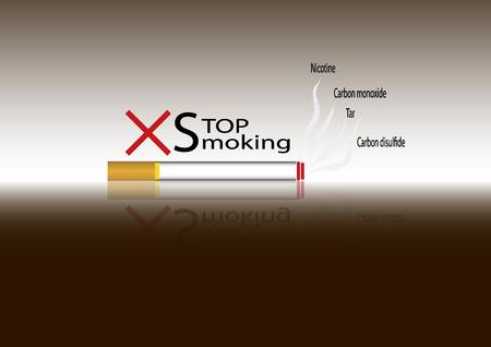 burn out: Niet roken teken Geen rook pictogram Stop smoking symbool