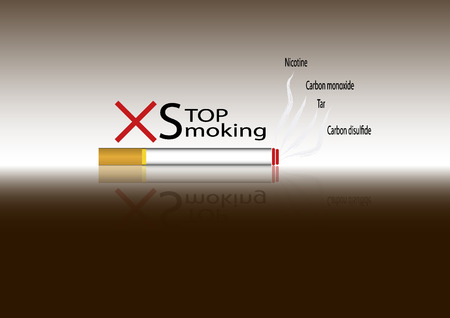 smoldering cigarette: No smoking sign  No smoke icon  Stop smoking symbol