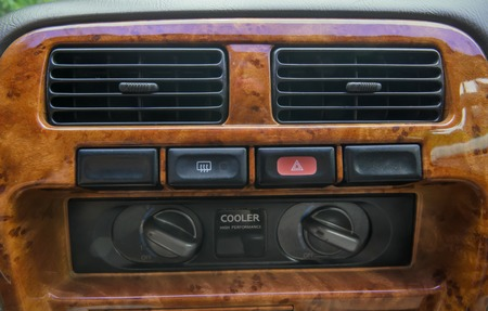 Air conditioner button pad in a car photo