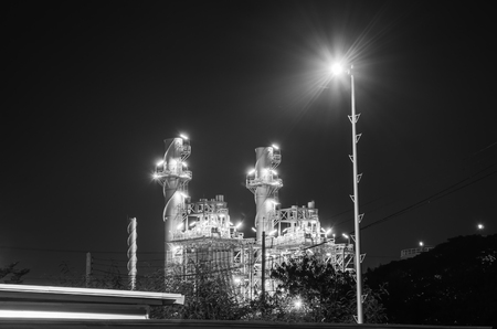 industrial park: Electrical plant with night landscape in the industrial park.