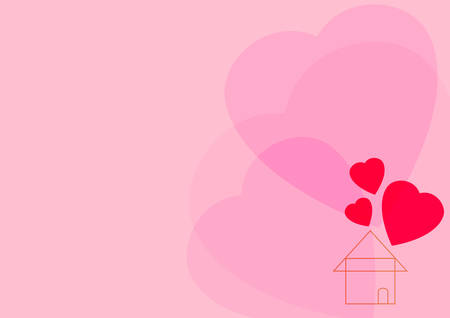 Heart and home icon.