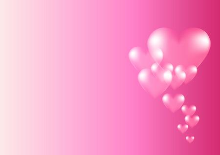Heart background creative for valentine love theme