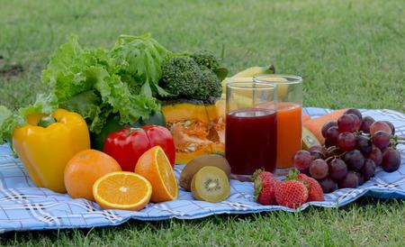 set of fruits isolated photo