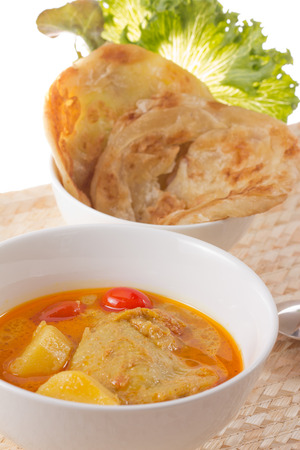 chaat: yellow curry chicken