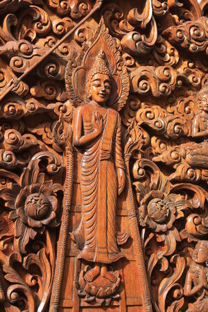 classic art: Classic art carved wood in temple Thailand.