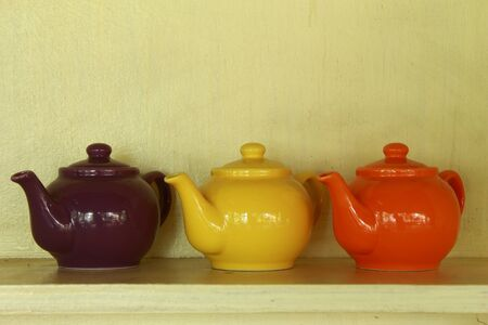 3 color teapot photo
