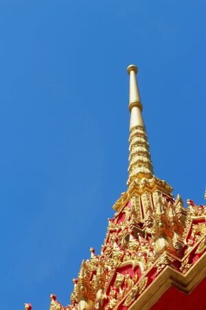 The architecture of the temple Thailand  photo