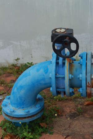 transportation facilities: Blue water dispenser