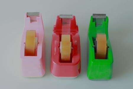 sellotape: Clear adhesive tape multicolored Stock Photo