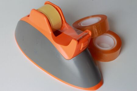 Clear adhesive tape orange photo