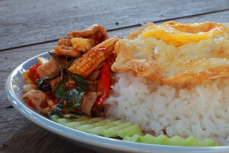 Basil Pork curry rice  photo