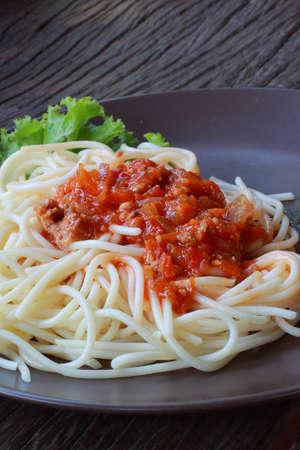 The pork spaghetti Stock Photo - 16644664