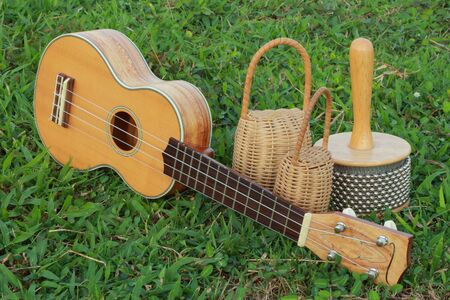 Ukulele with percussion  Stock Photo - 16654611