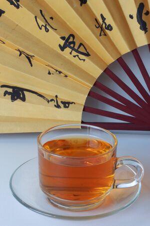 Glass of hot tea  photo