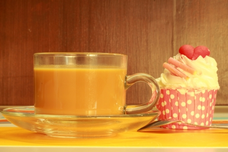 Cupcakes and coffee  photo