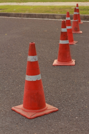 Traffic cones  photo