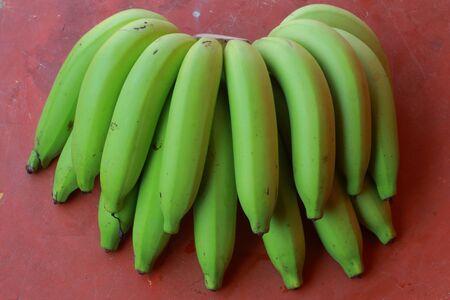 Green Sweet banana  Stock Photo