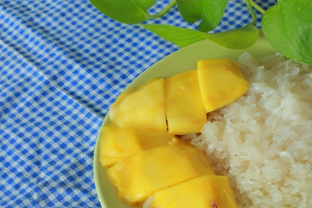 Mango sticky rice  Stock Photo - 17184703
