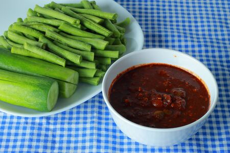 Chili powder fish food Thailand  photo