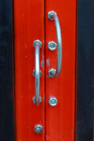 put the key: Steel and wooden doors vintage