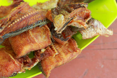 Dried Fried Fish Thailand Food Stock Photo
