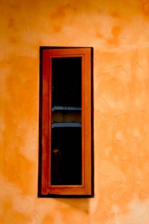double glazing: Brown window vintage Stock Photo
