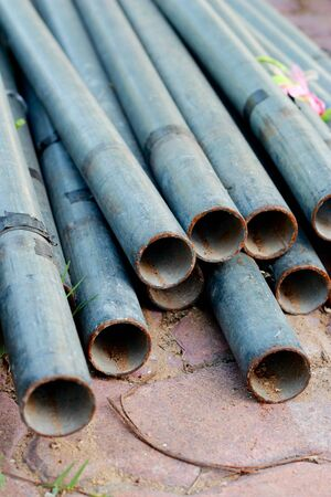 Concrete drainage pipe photo
