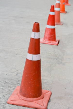 Orange cones. photo