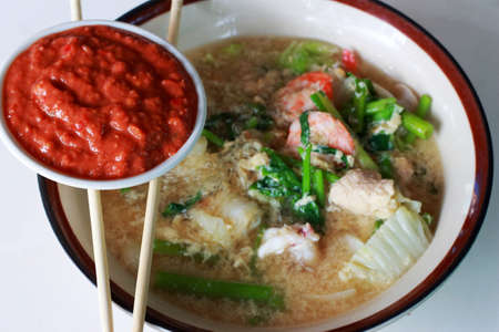 bean family: Seafood vermicelli soup - Sukiyaki