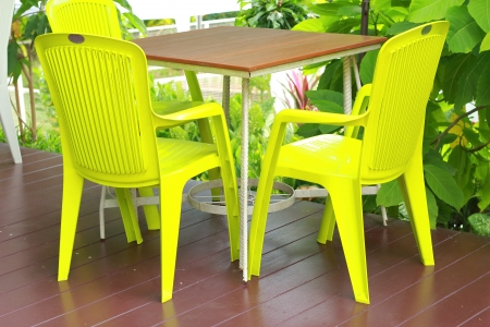 Table in the house  - plastic style