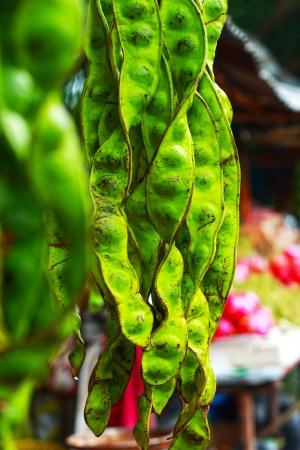 tufo: Frijol hedor en el mercado Foto de archivo