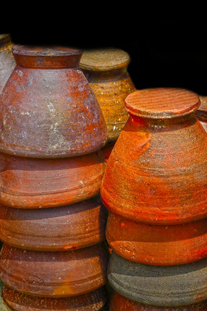 Earthenware brown - in the market. photo