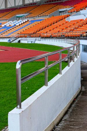 grandstand:  Seat grandstand in an empty stadium
