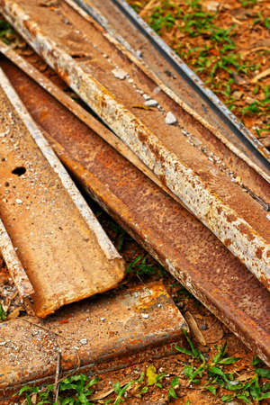 Old metal pipes - for construction  photo
