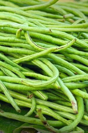 long beans in market photo