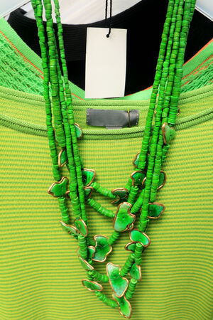 colorful of necklace and beads photo