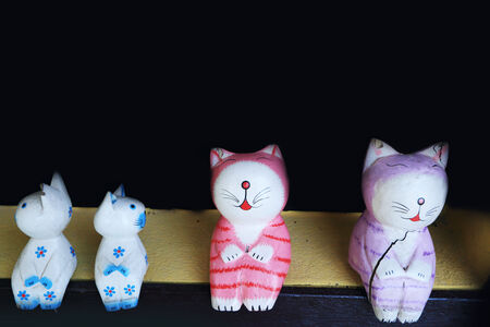 maneki: Japanese cat sculpture Stock Photo