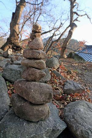 blessings: Zen stone building holy blessings