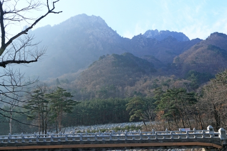 landscape at Seoraksan Korea  photo