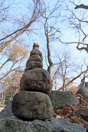 blessings: Zen stone building holy blessings Stock Photo