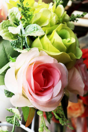 Beautiful rose of artificial flowers Stock Photo
