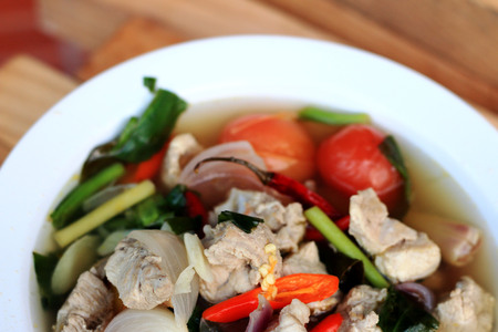 Pork and lemon soup - thai food