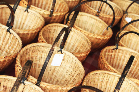 Market wicker basket photo