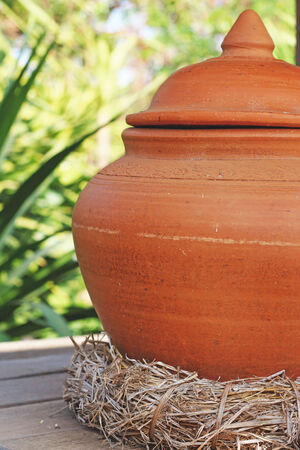 earthen: Earthen jars water